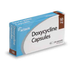 Doxycycline box from the front
